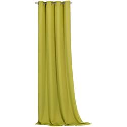 Vorhang Ronja, Weckbrodt, Ösen (1 Stück), abdunkelnd grün 135 cm x 245 cm