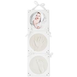 Gipsabdruck Bilderrahmen Komplettset Gipsabdruck Hand und Fuß im 3D Bilderrahmen Gipsabdrücke weiß