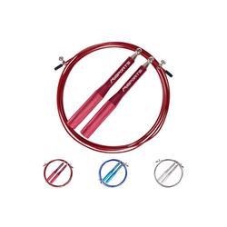 MSports® Springseil Springseil - Speed Rope Professional - Aluminium Studio Qualität Sprungseil rot