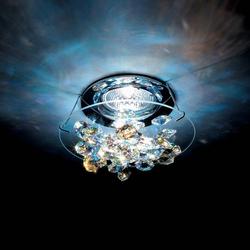 Swarovski Ice Einbaustrahler in Chrom mit klaren Kristallen