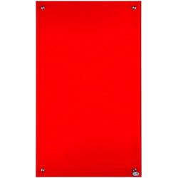 Glas-Infrarotheizung 300 W, (B/H) 60 x 70 cm rot