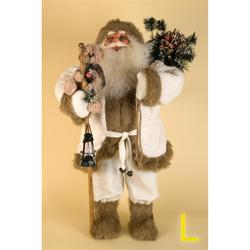 Deko Weihnachtsmann mit Sack - Weihnachtsdekoration - 3 Größen