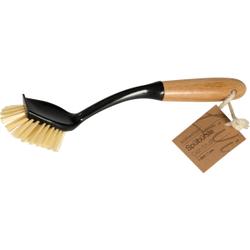 Abena® Spülbürste Ena Living BORNHORN, harte Borsten, Geschirrbürste mit Griff aus Bambus, 1 Stück