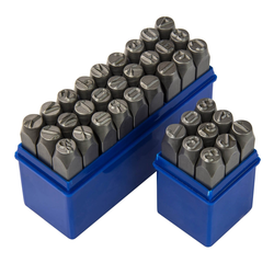 Schlagzahlen und Schlagbuchstaben Zahlenstempel Schlag Stempelset 10 mm 36-tlg