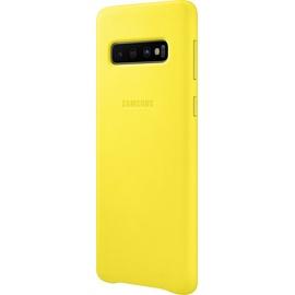 Samsung Leather Cover EF-VG973 für Galaxy S10 gelb