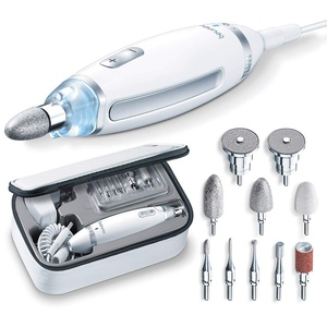 Beurer MP 62 Maniküre-/ Pediküre-Set, elektrische Nagelfeile mit 10 hochwertigen Nagelpflege-Aufsätzen, LED Licht, stufenlose Geschwindigkeitsregelung, mit Aufbewahrungstasche