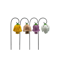 HTI-Living Gartenfigur Glockenblume mit Metallglocke, 4 Stück, (4 St)