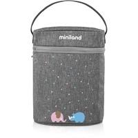 MINILAND BABY Miniland 89320 Isoliertasche für Babyflaschen und Isolierkannen, thermibag double azure-rose, grau