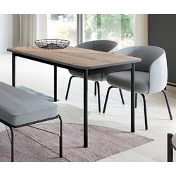 Feldmann-Wohnen Esstisch BASIC (Tisch), B/T/H: 140 cm x 80 cm x 75 cm beige