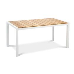 Best Paros Tisch Teak 160x90 cm Weiß/Teakholz