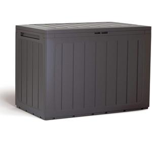 Prosperplast Gartenbox 190 Liter Boardebox aus Kunststoff in dunkler 78 x 43,3 x 55 cm, Ocker dunkel