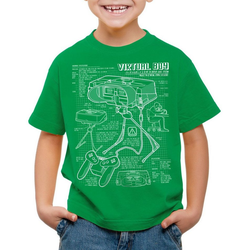 style3 Print-Shirt Kinder T-Shirt Virtual Boy Blaupause 32-Bit videospiel controller grün 116