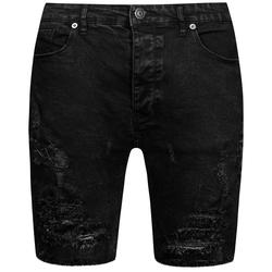 BRAVE SOUL Morton Denim Herren Ripped Jeans Shorts MSRT-MORTON - L