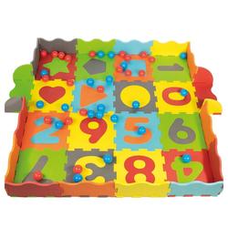Klee-Kids Bällebad Schaumstoff Puzzlematte 93 Teilig, Mit Tasche