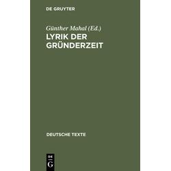 Lyrik der Gründerzeit als Buch von