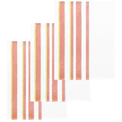Lashuma Handtuch Set (Set, 3-tlg), Geschirrtücher Halbleinen, Küchentücher 50x70 cm rosa
