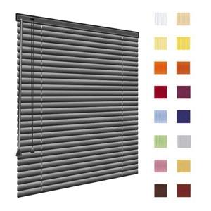 Alu-Jalousien, Jalousien, Horizontaljalousien, Farbe hellgrau, grau, auf Mass gefertigt oder in Standardgroessen, weitere 100 Farben verfuegbar