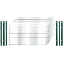 Arvotec Doppelstabmattenzaun, 5 Stk., LxH: 10x1 m, grün