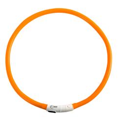 Sicherheitsband für Hunde See me orange, Maße: ca. 20 - 75 cm - ca. 20