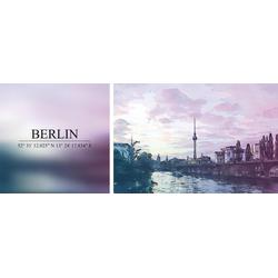 queence Leinwandbild Berlin, (Set), 2er-Set