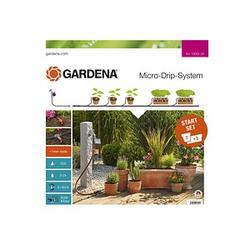 GARDENA Bewässerungs-Set Micro-Drip-System Start Set Pflanztöpfe M automatic 15,0 m Verlegerohr, 10,0 m Verteilerrohr