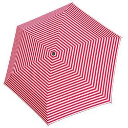 Tamaris Taschenregenschirm Tambrella Light, Stripe Pink, Ultraleicht