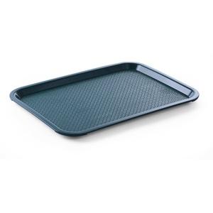 HENDI Serviertablett, Tablett, Temperaturbeständig bis 80°C, Fastfood, Polypropylen, 305x415x(H)20mm, Mittel, Grün