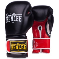 BENLEE Rocky Marciano Unisex-Adult SUGAR DELUXE Boxhandschuhe, Black/Red, 18 oz