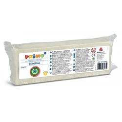 Primo Knete Plastilin Knete im Block, Spiel-knete 550 g, in versch. Farben weiß