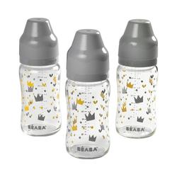BÉABA Babyflasche 3er Set Babyflaschen mit breitem Hals 240 ml -