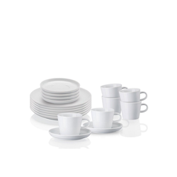 ARZBERG Geschirr-Set Kaffeeset 18-tlg. - CUCINA Weiß