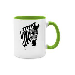 Shirtracer Tasse Zebra - Wildnis - Tasse zweifarbig - Tassen, zebra geschirr