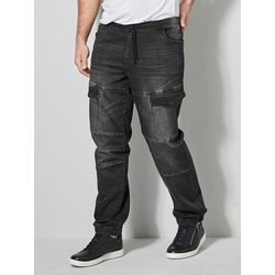 Cargo-Jog Denim Men Plus Black