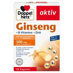 DOPPELHERZ Ginseng 250+B-Vitamine+Zink Kapseln 30 St