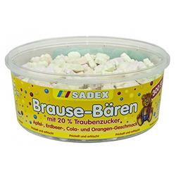Sadex Brause Bärchen prikelnde Brause Bonbons mit Traubenzucker 1000g