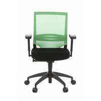 HJH Office Porto Base Netzstoff schwarz / grün