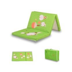 Kindermatratze Matratze faltbar, Babyshoppen, 5 cm hoch, in grün, Größe 120 x 60 x 5 cm, mit bunten Motiven
