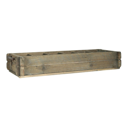 Ib Laursen Holzkiste Laursen - Holzkiste 12 Fächer 5239-14 Besteckkasten Köcher Kiste Box Holz Shabby