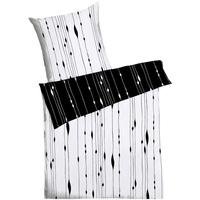 Feinbiber schwarz/weiß (155x220+80x80cm)