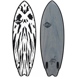 SOFTECH SOFTBOARDS MASON TWIN Surfboard 2021 gunmetal black - 5,10
