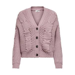 ONLY Zopfmuster Strickjacke Damen Pink Female L