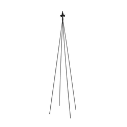 "78"" Tall Iron Fleur-De-Lis Garden Trellis Tool Black Powder Coat Finish - Achla Designs"