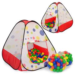 LittleTom Spielzelt Spielset Kinderspielzelt Tiana + 200 Bälle Spielhaus Spielzelt Bällebad