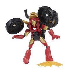 Hasbro Marvel F02445L0 Iron Man mit 2-in-1 Motorrad Figur