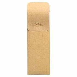 Bestecktaschen mit Abdecklasche 235 x 73 mm natur inkl. Serviette FSC, 500 Stk.