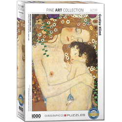 empireposter Puzzle Gustav Klimt - Mutter und Kind - 1000 Teile Puzzle - Format 68x48 cm, 1000 Puzzleteile