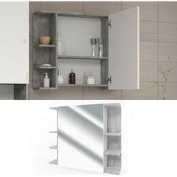 VICCO Badspiegel FYNN 80 x 64 cm Grau Beton - Spiegel Spiegelschrank Wandspiegel