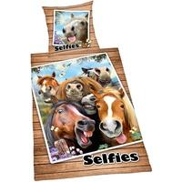 Herding Selfies Pferde 135 x 200 cm + 80 x 80 cm