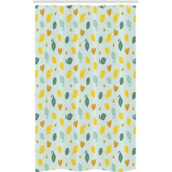 Abakuhaus Duschvorhang Badezimmer Deko Set aus Stoff mit Haken Breite 120 cm, Höhe 180 cm, Zitronen Gekritzeltes Zitronen-Entwurf