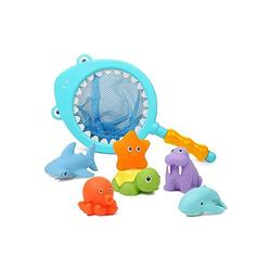 kueatily 7 Stück Baby Bad Spielzeug aus 1 Jahr alten Badewanne Spielzeug Kinder Badewanne Spielzeug mit Fischernetz Badespielzeug